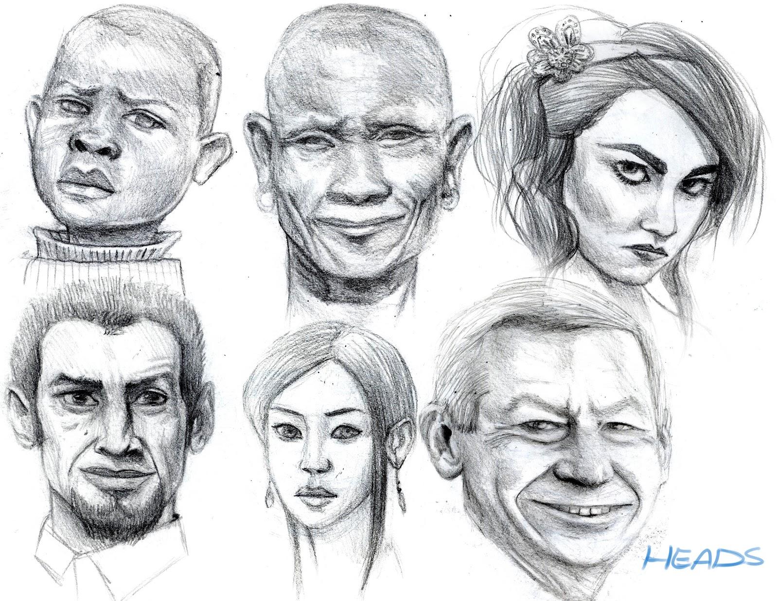 Arash Rod S Art Heads Drawings