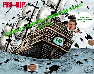 """""""cuando se hunde el barco las ratas huyen"""" renuncia Beltrones a su dirigencia del PRI"""