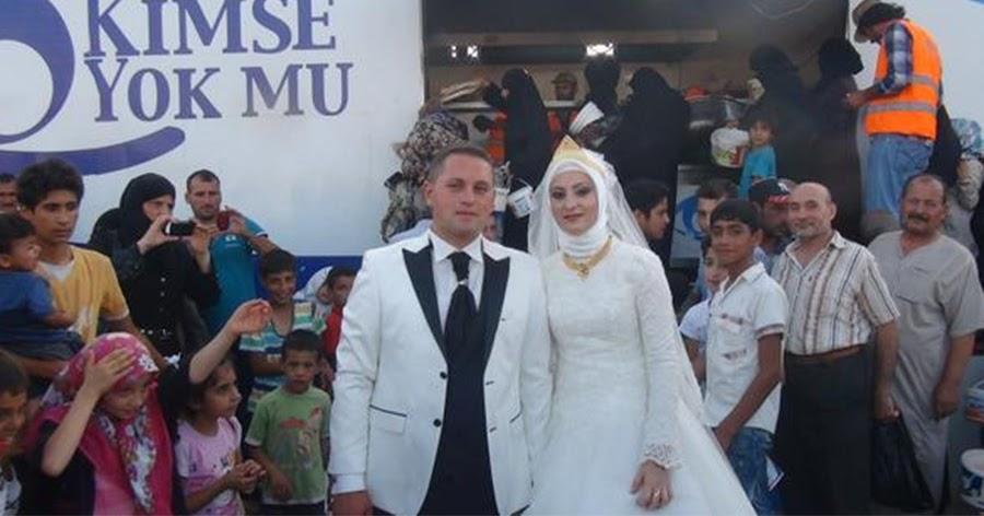 Turkish Wedding Groom Eats Brides Cake