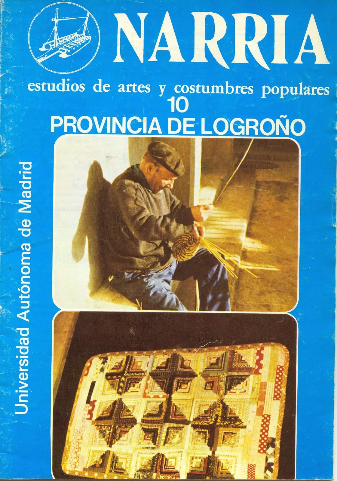 """Revista Narria. Estudio de artes y costumbres populares"""