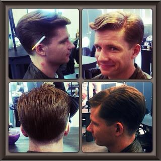 herre klip langt hår