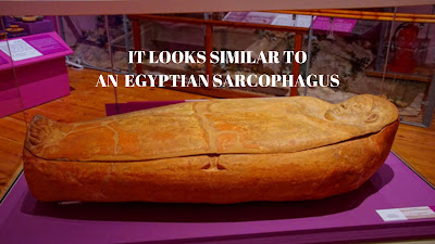Here is an Egyptian sarcophagus from Egypt and don't they look similar.