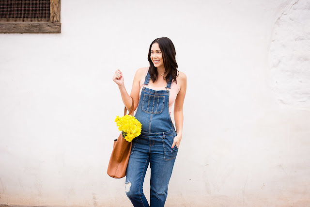 Motherhood Maternity fashion overalls for Spring/Summer pea in a pod tank top