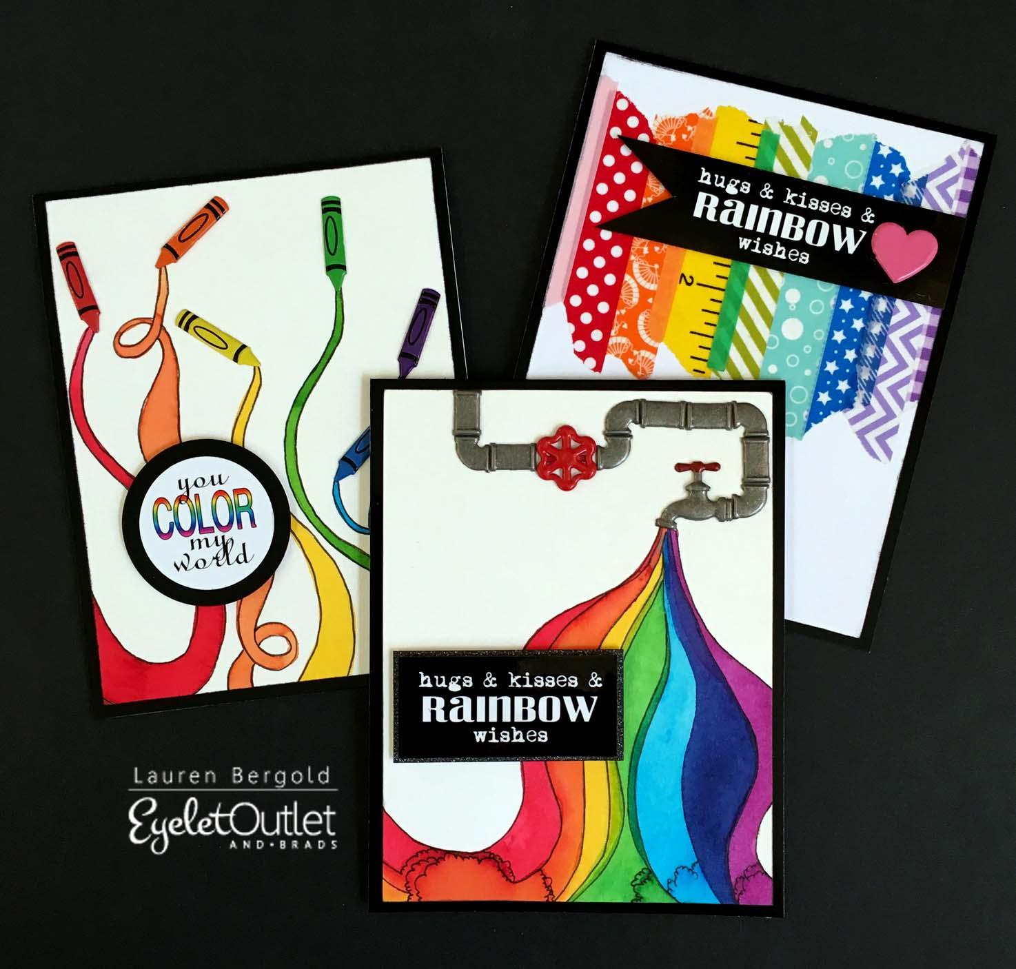 EO-rainbow%2Bcolorburst%2Bcards-bergold Verwunderlich so where Over the Rainbow Dekorationen