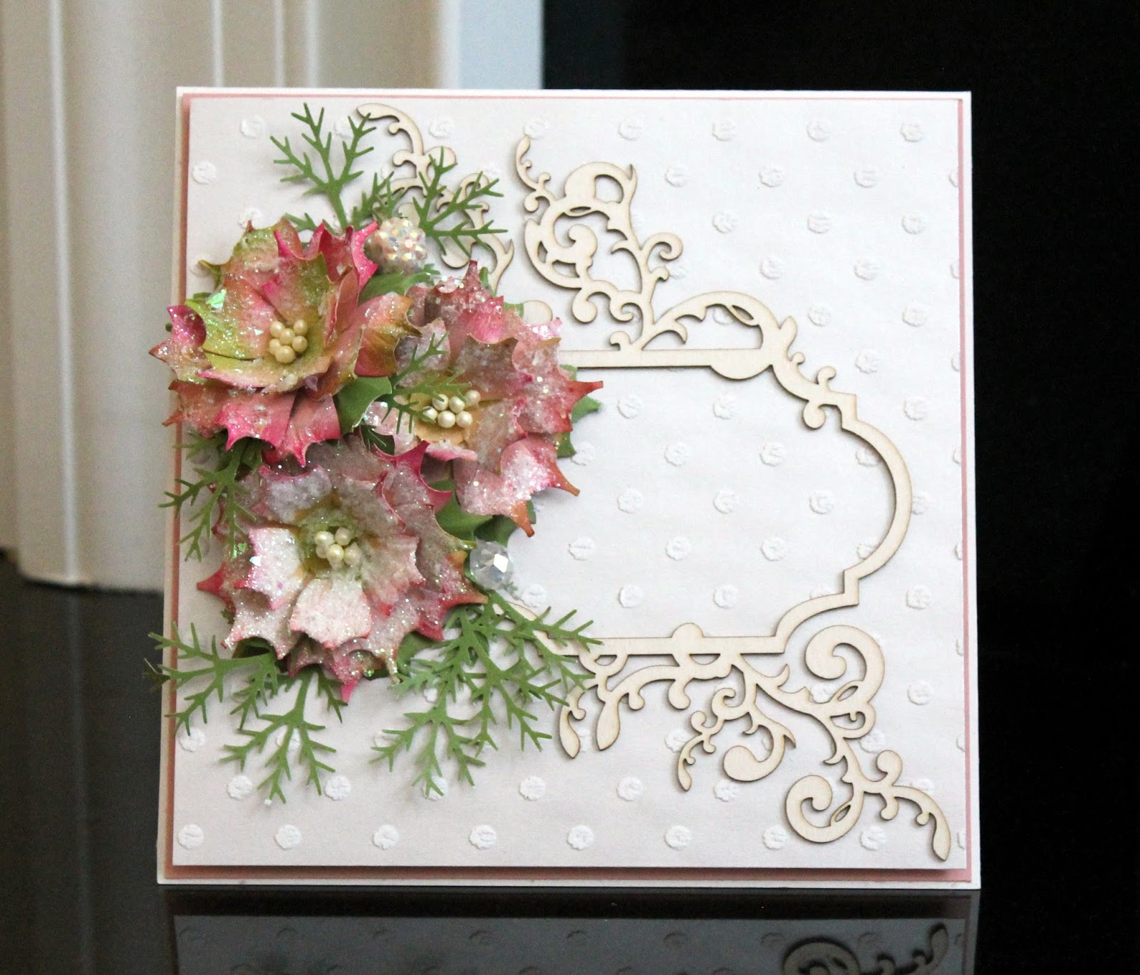 Archis Craftcave Shabby Chic Poinsettia Youtube Tutorial
