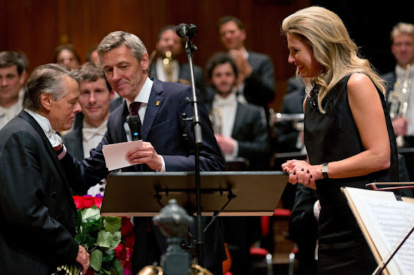 Dutch Royal Couple attends the final concert by conductor Mariss Jansons