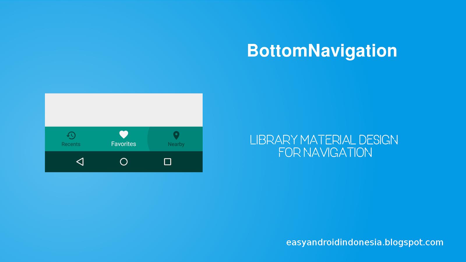 Tutorial Android : Contoh Penggunaan BottomNavigation Sebagai Navigasi View