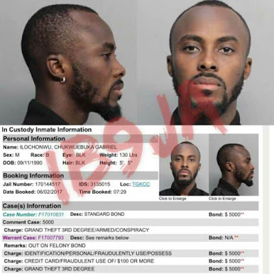 Nigerian Singer, Dammy Krane Arrested In The US For Grand theft, Credit Card Fraud and Identity Fraud