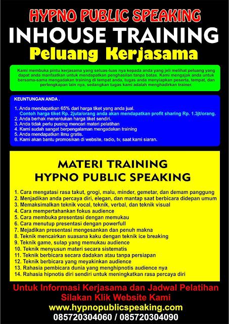 Peluang kerjasama usaha kursus public speaking murah di jakarta