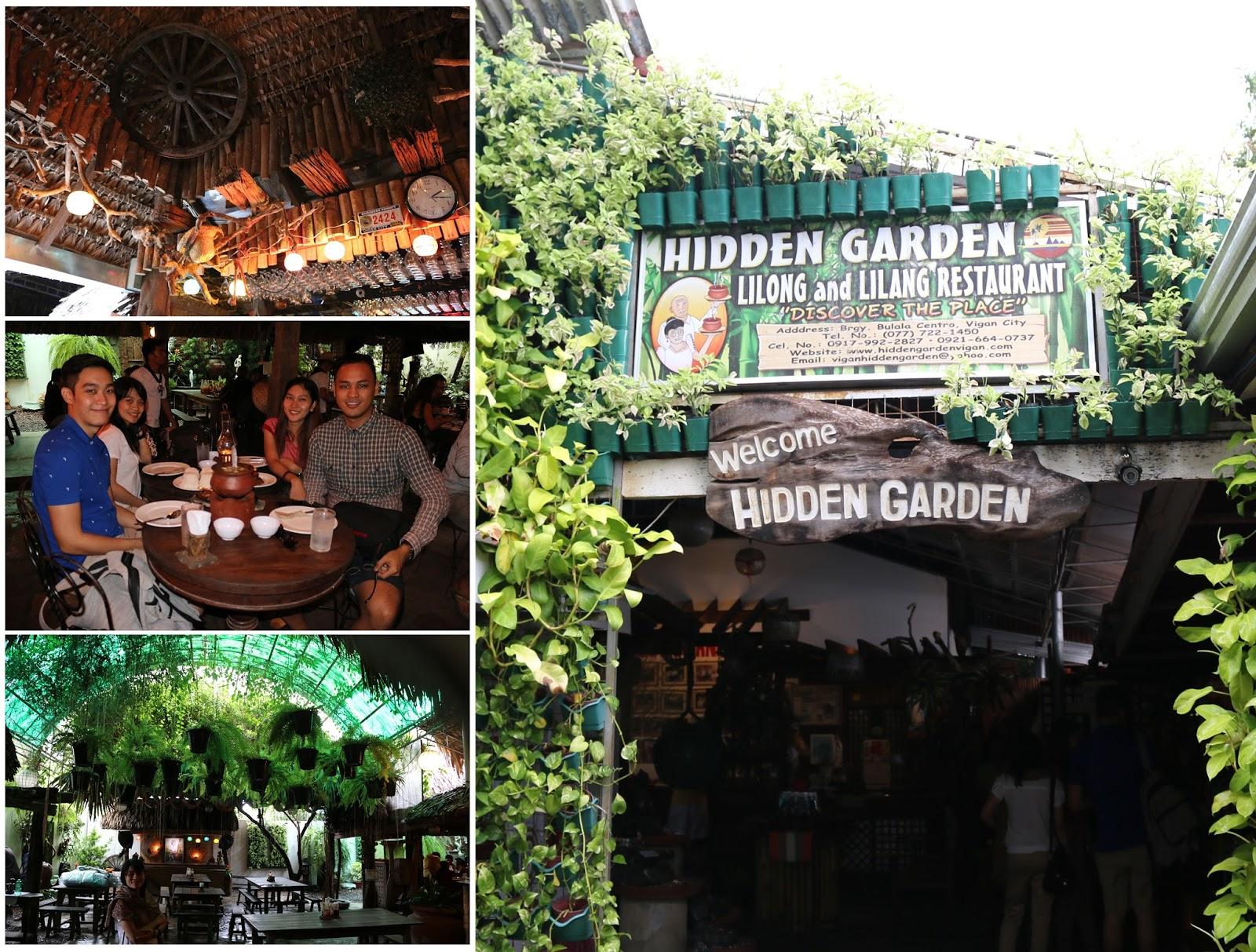 travel Vigan Ilocos Tour Sur Philippines tour tourism Hidden Garden restaurant