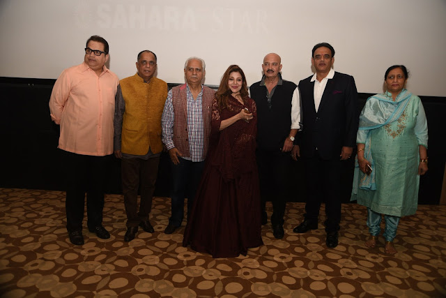 Ramesh Taurani, Pahlaj Nihlani, Ramesh Sippy, Saapna Mukerji, Rakesh Roshan, Vivek Kumar, CEO Aamby Valley City and Hotel Sahara Star, Ashu Sood, CFO AVC & HSS @Cinetheque Preview theatre @ Sahara Star