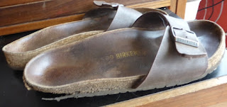 Birkenstocks well-worn