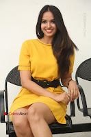 Actress Poojitha Stills in Yellow Short Dress at Darshakudu Movie Teaser Launch .COM 0209.JPG