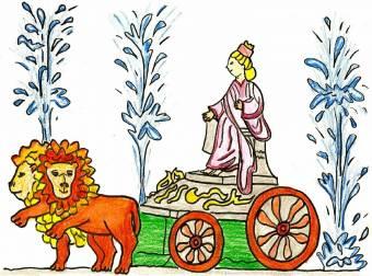 Resultado de imagen de diosa cibeles dibujos infantil