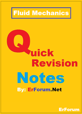 Fluid Mechanics Summary Notes for GATE, ESE, PSUs