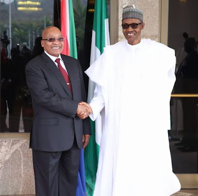 buhari and jacob zuma in Nigeria
