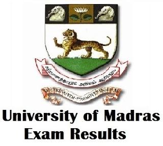 Madras University IDE Results 2017 @ www.ideunom.ac.in