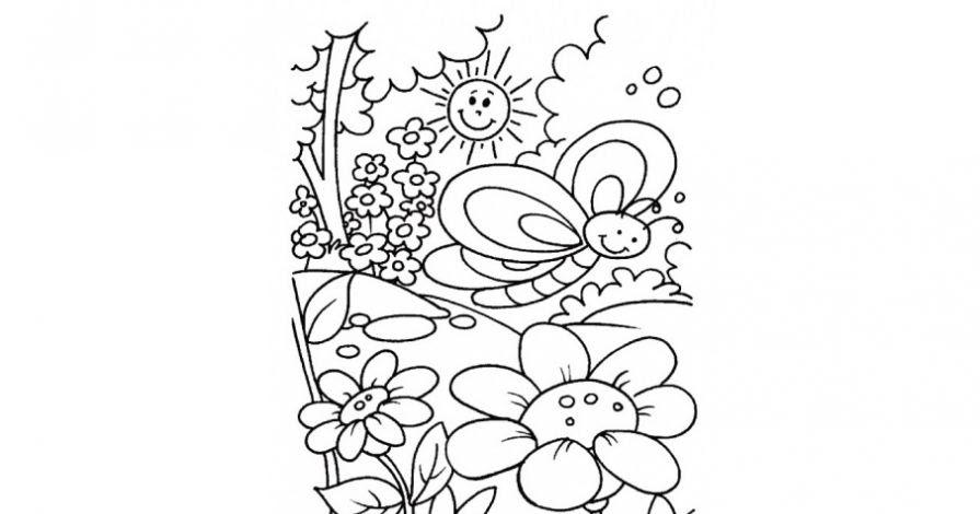 Раскраски деткам: Раскраска весна пришла
