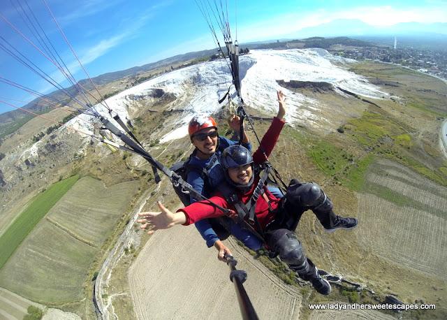 Ed paragliding in Pamukkale