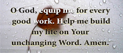 equip me with good work