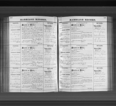 Climbing My Family Tree: Marriage License John & Catherine Snyder Oct 21, 1875