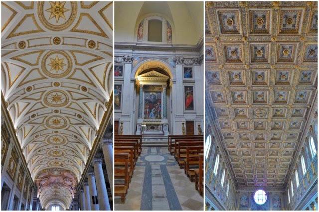 Techos en el interior de Santa Maria Maggiore en Roma