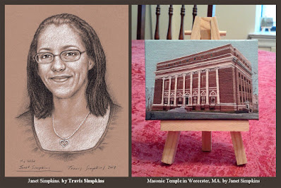 Janet Simpkins. Artist and Animator. Masonic Temple. Worcester, MA. by Travis Simpkins