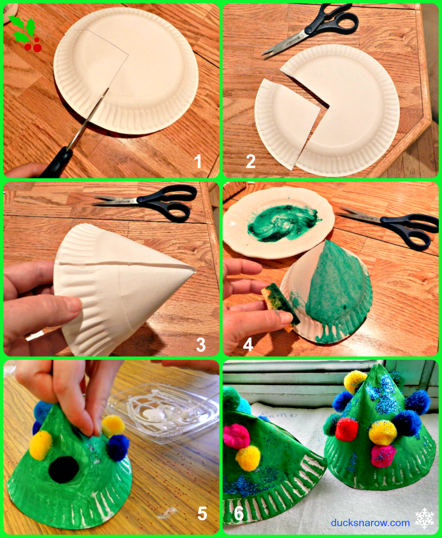 kids crafts holiday crafts paper plate crafts  sc 1 st  Ducks u0027n a Row & Paper Plate Christmas Tree Craft for Kids - Ducks u0027n a Row