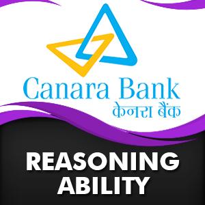 Reasoning Ability For Canara Bank PO | 06- 12 - 18