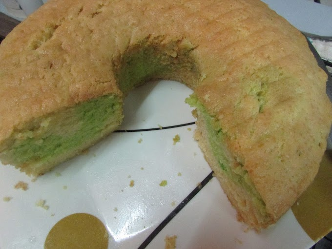 Pandan Butter Cake mudah