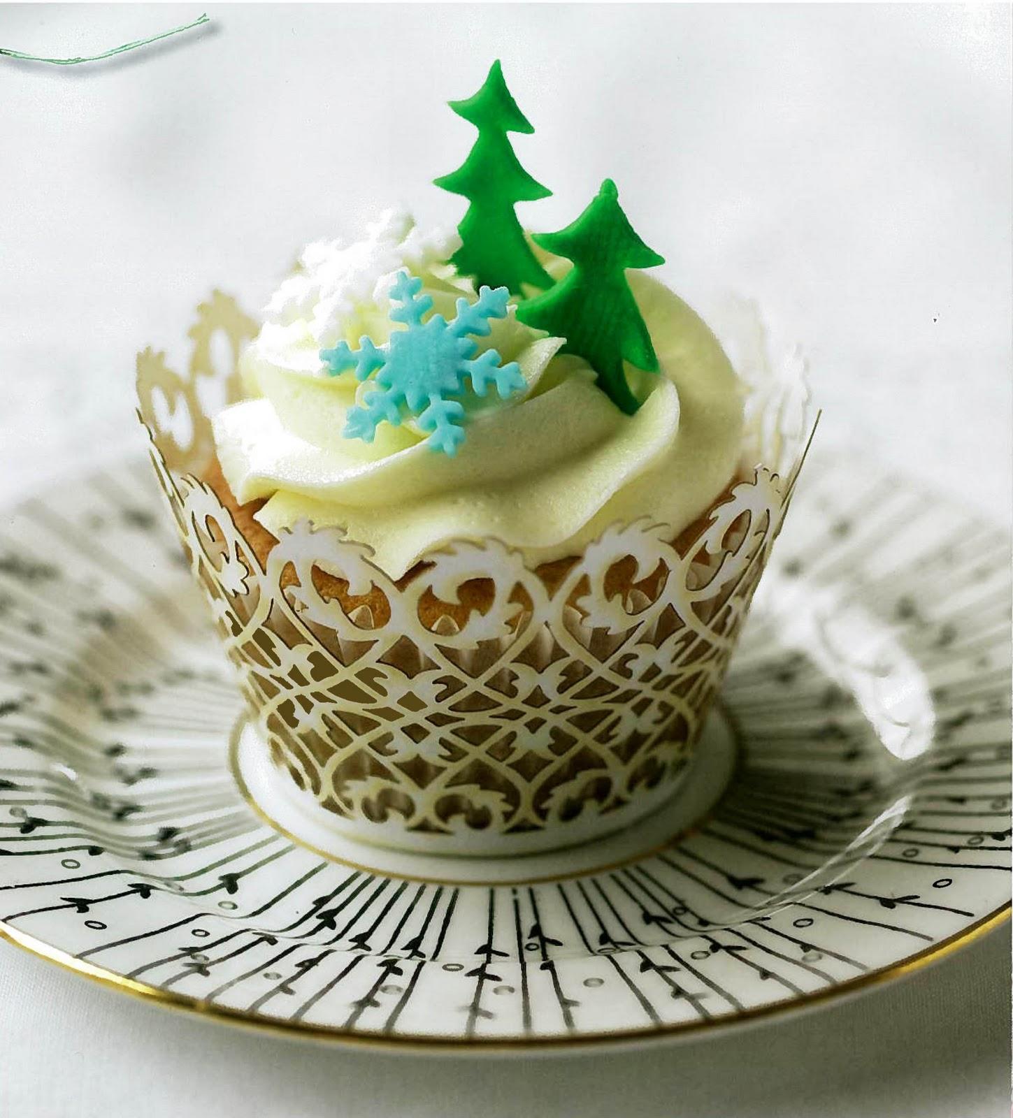 Christmas Tree Muffins: The Pretty Purveyor: Holy Christmas Cupcakes