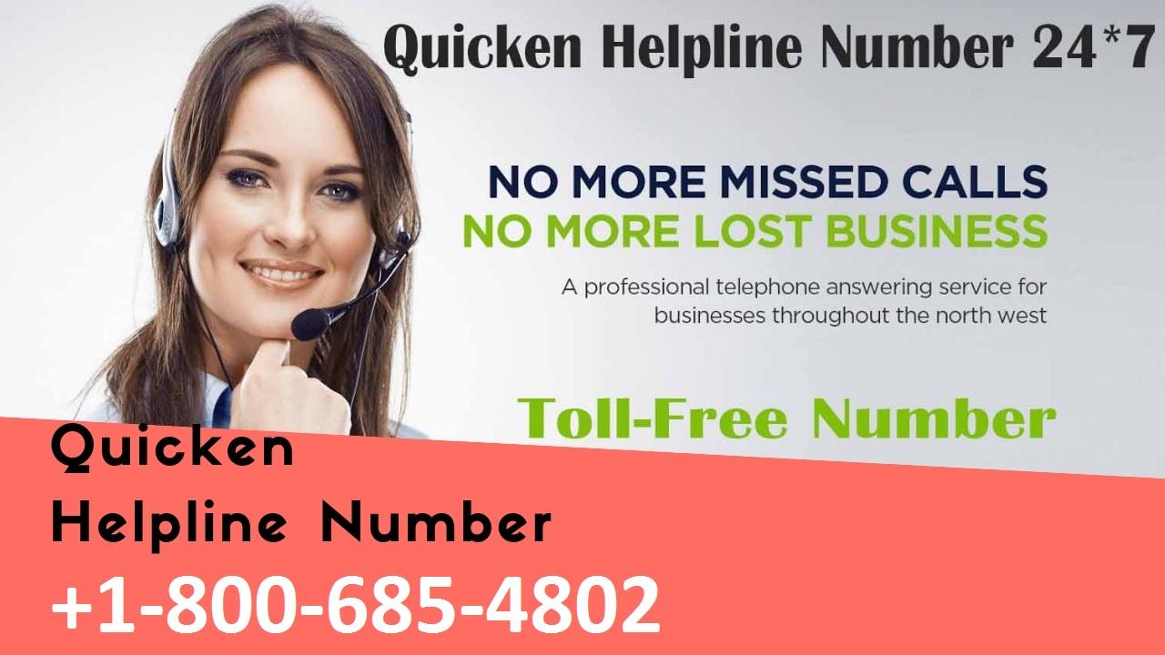 quicken help support phone number +1-800-685-4802