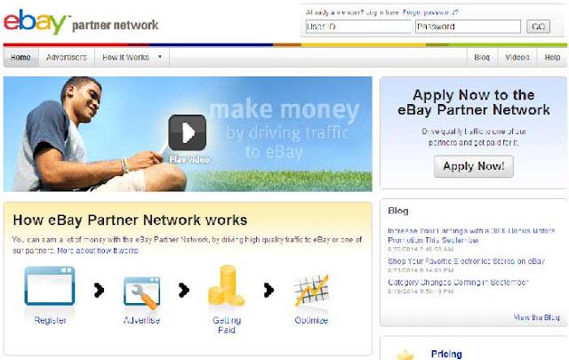 Top 10 Affiliate Programs for Bloggers : Ebay Partner network Affiliate program : Devil Coded
