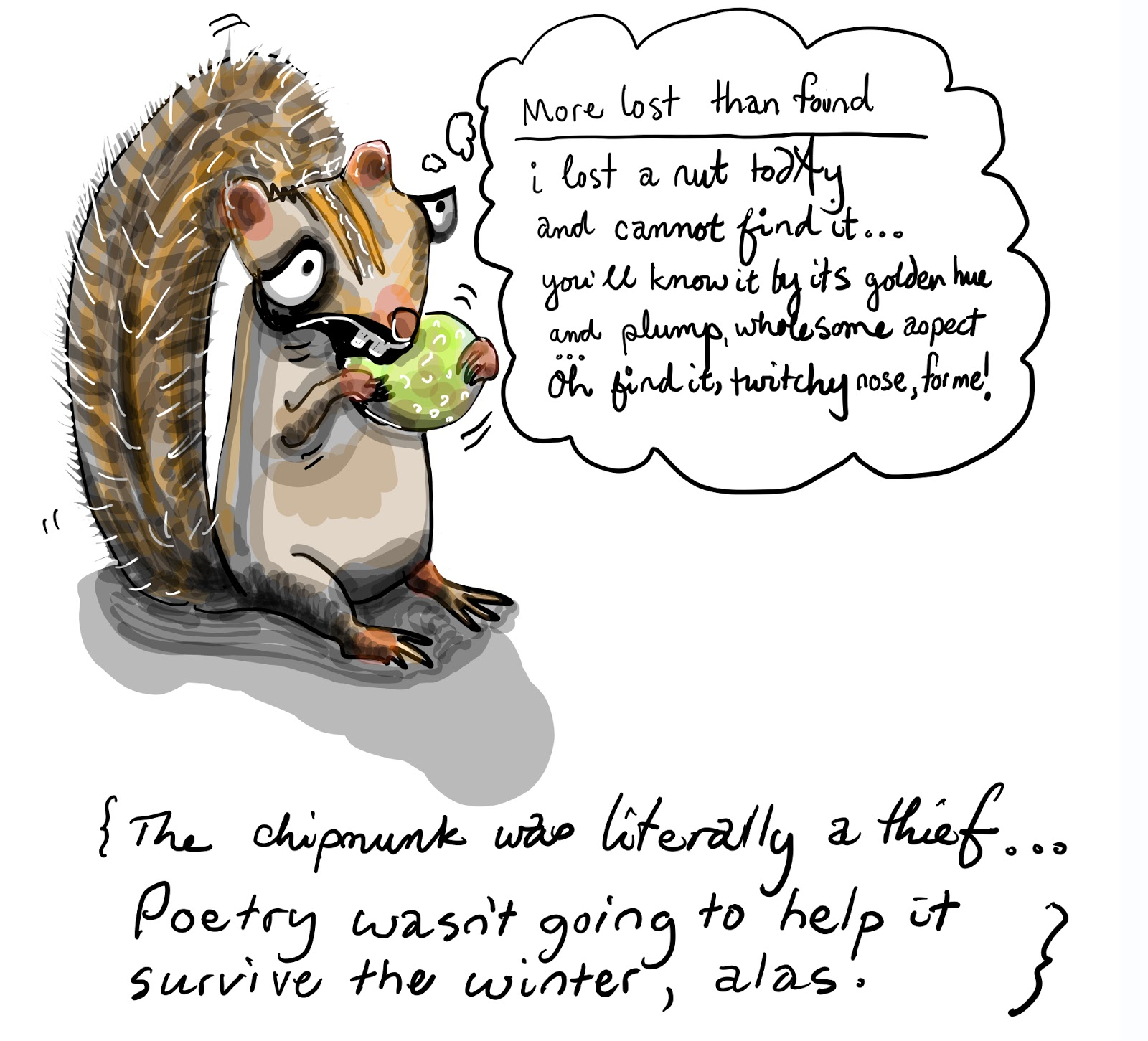 A poem about a nut