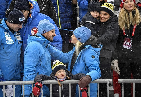 Crown Princess Victoria, Prince Daniel, Princess Estelle and Prince Oscar, Crown Prince Haakon and Crown Princess Mette-Marit