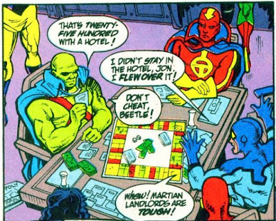 Panel from Justice League America Annual #7 (1992). Property of DC comics.