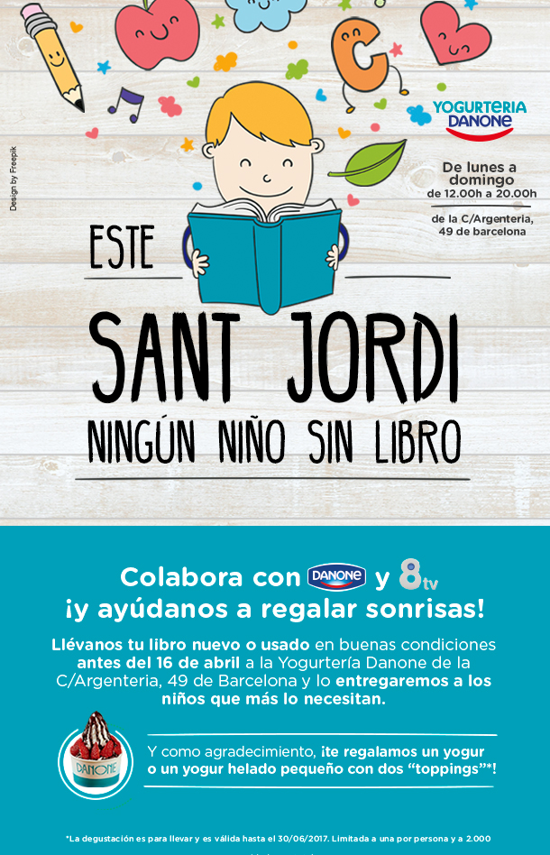 Este Sant Jordi ningún niño sin libro: