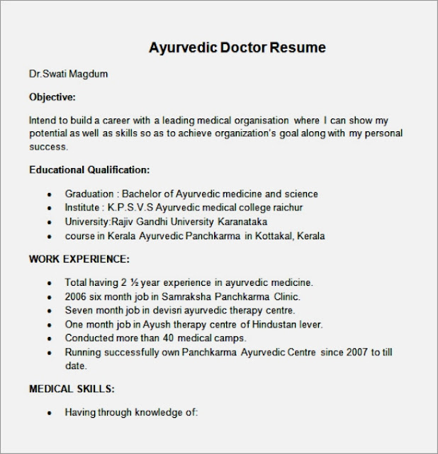 Sample Resume Homeopathy Doctors Resume Ixiplay Free Resume Samples - doctor resume