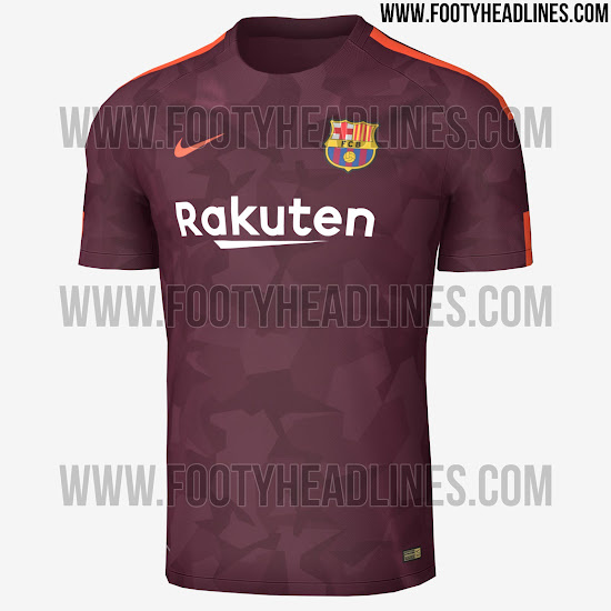 FC Barcelona Tercera Camiseta 17 18