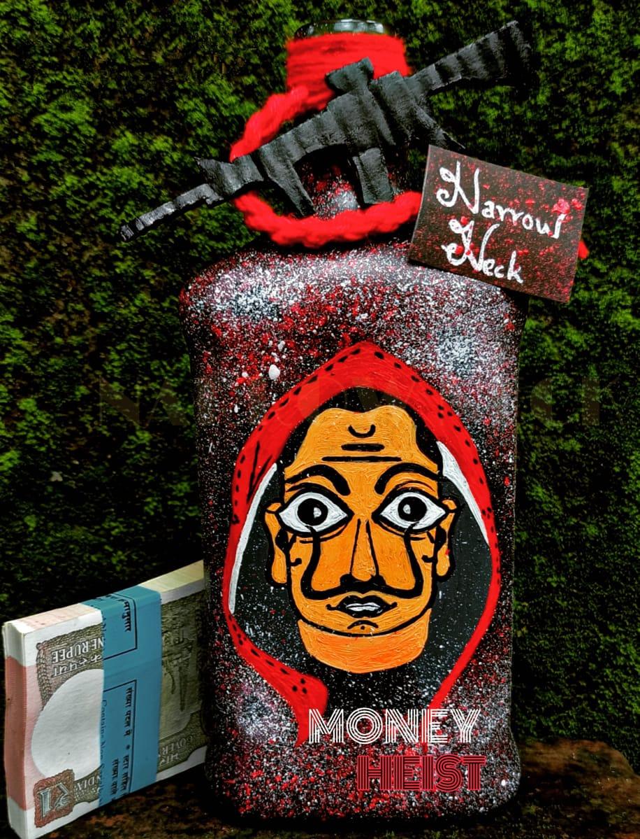 money heist bottle art