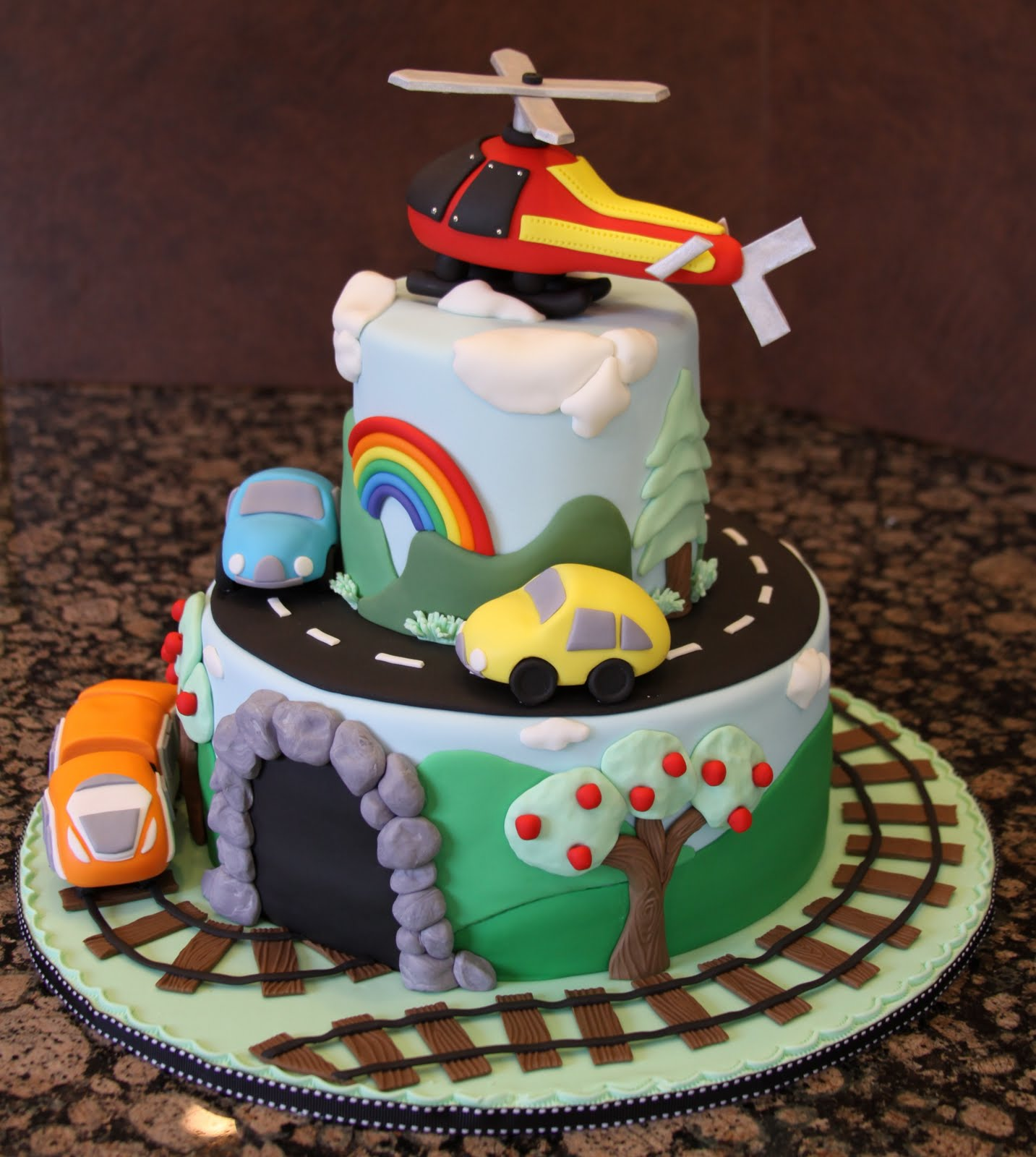 .: Transportation Birthday Cake