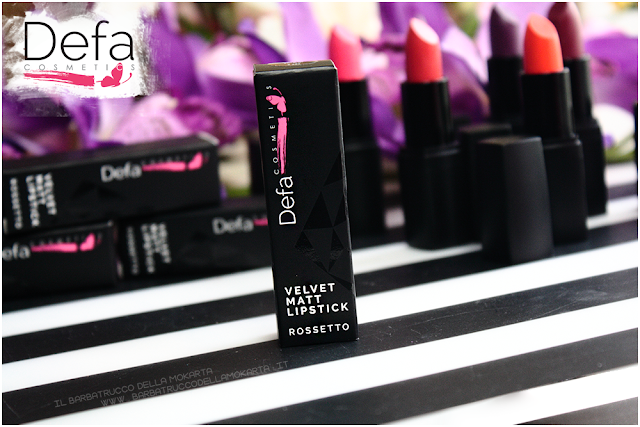 packaging recensione Defa cosmetics lipstick