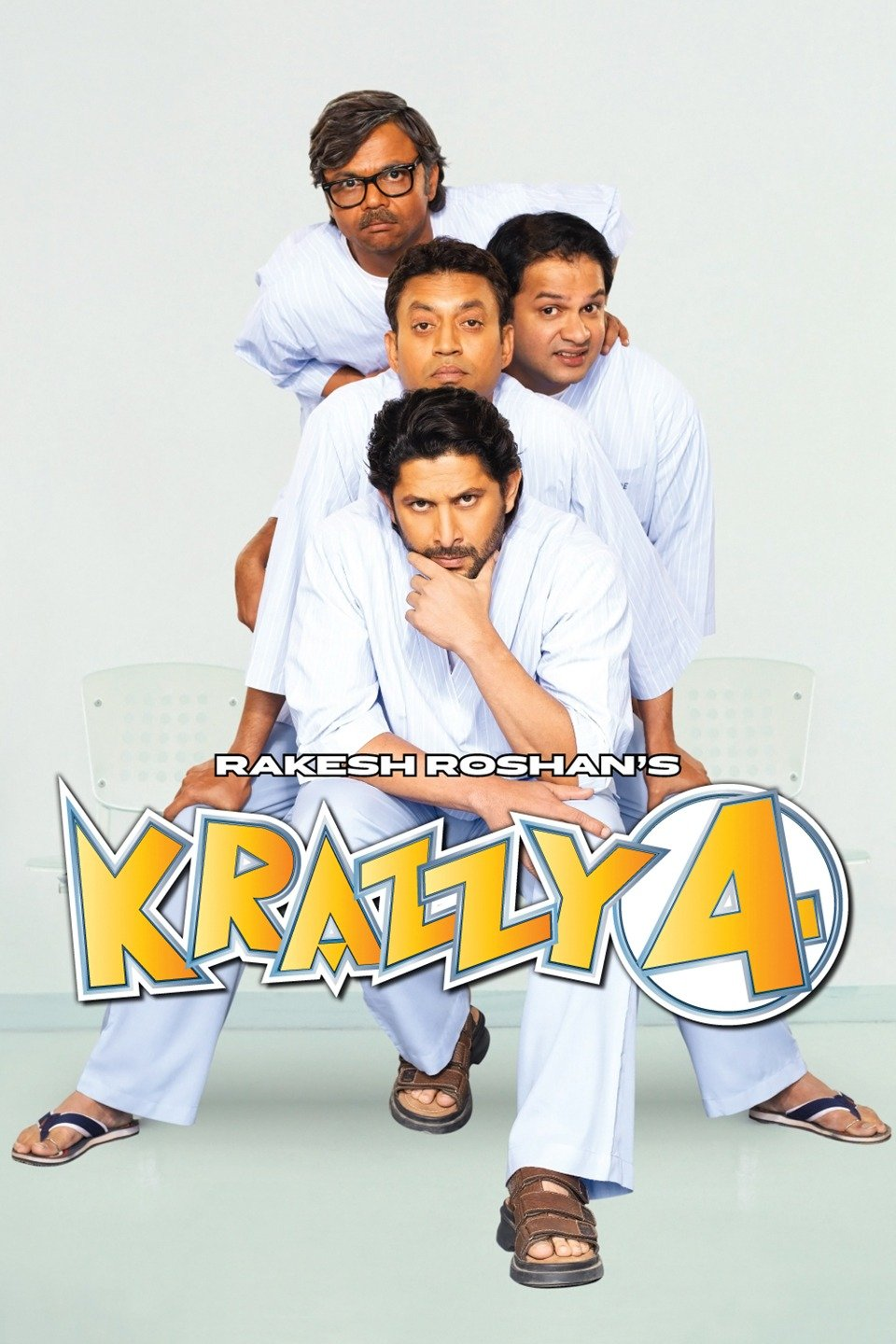 Krazzy 4 (2008) Hindi 350MB DvDRip 480p