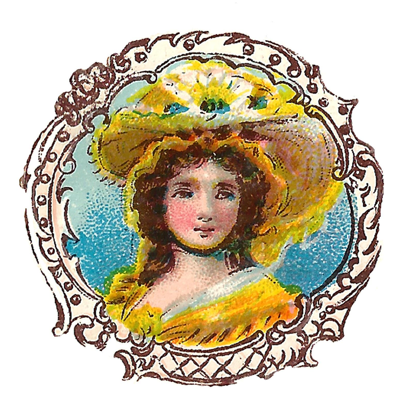 Free Hat Fashion Clip Art Antique Victorian Flourish Frame Illustrations