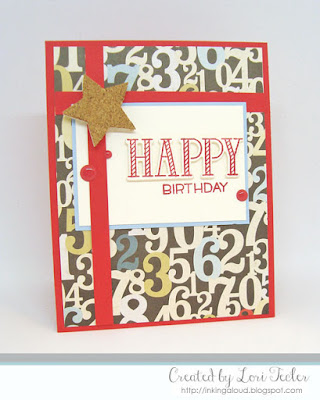 Happy Birthday card-designed by Lori Tecler/Inking Aloud-stamps and stencil from Lawn Fawn