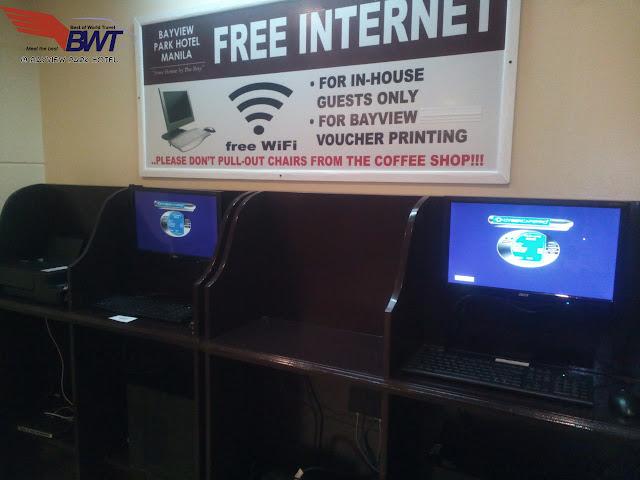 Bayview Park Hotel in Roxas Boulevard Manila Free WiFi