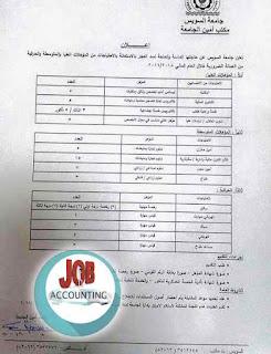 وظائف محاسبين فى مصر | وظائف خالية في جامعة  السويس للمؤهلات العليا
