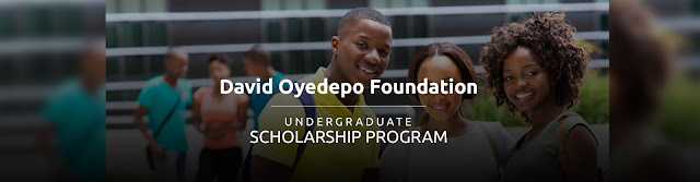 1 2018 David Oyedepo Foundation Scholarship Program for Undergraduate African Students