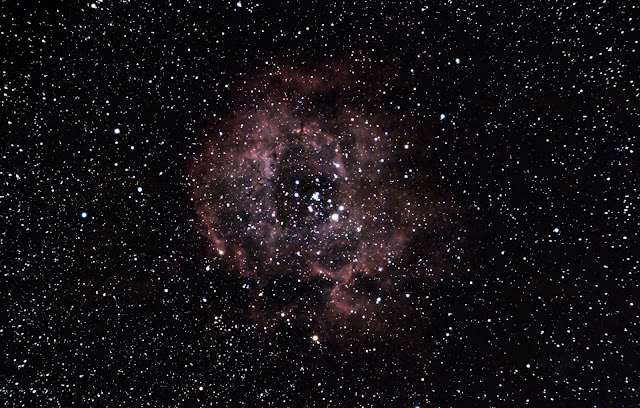 The Rosette Nebula taken in Cathedral City, CA