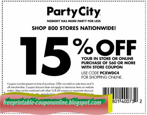 Coupon party city october 2018